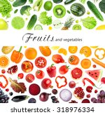 collection of fruits and... | Shutterstock . vector #318976334