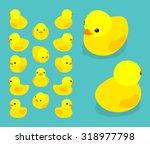 Isometric Rubber Duck. Vector...