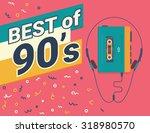best of 90s retro illistration... | Shutterstock .eps vector #318980570