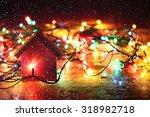 Christmas Background  Garland...