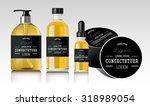 realistic essential oil bottle. ...   Shutterstock .eps vector #318989054