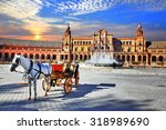 landmarks of spain   piazza... | Shutterstock . vector #318989690