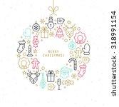 christmas ball design with thin ...