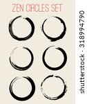 vector zen circles set... | Shutterstock .eps vector #318994790