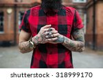 hands close up of young... | Shutterstock . vector #318999170