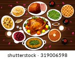 a vector illustration of food... | Shutterstock .eps vector #319006598
