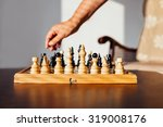 white pieces ready for the next ... | Shutterstock . vector #319008176