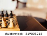 closeup of chess horse and rook   Shutterstock . vector #319008218