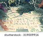 new year's resolutions | Shutterstock . vector #319009916