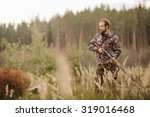 Male Hunter In Camouflage...