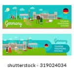 banners with landmarks of... | Shutterstock .eps vector #319024034