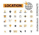 location  navigation  map icons | Shutterstock .eps vector #319024670
