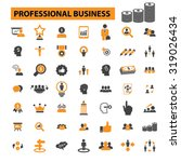 professional business icons | Shutterstock .eps vector #319026434
