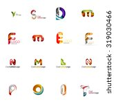 set of new universal company... | Shutterstock . vector #319030466