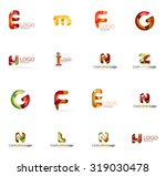 set of new universal company... | Shutterstock . vector #319030478