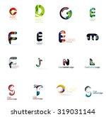 set of new universal company... | Shutterstock . vector #319031144