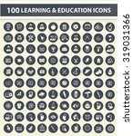 100 education and learning icon ... | Shutterstock .eps vector #319031366