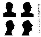 profile silhouette set | Shutterstock . vector #319037699