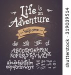 vector hand drawn uppercase and ... | Shutterstock .eps vector #319039514