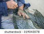 Hands Of Commercial Fisherman...
