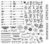 set of vintage sketch elements. ...   Shutterstock .eps vector #319051250
