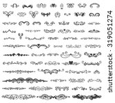set of vintage sketch elements. ... | Shutterstock .eps vector #319051274