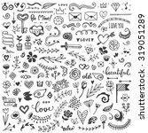 set of vintage sketch elements. ...   Shutterstock .eps vector #319051289