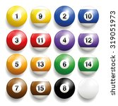 billiard balls   commonly used... | Shutterstock .eps vector #319051973
