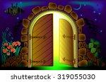 Fairyland Fantasy Gate  Vector...