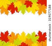 autumn leaves on white... | Shutterstock .eps vector #319077188