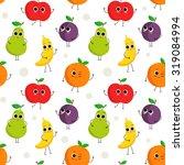 cute vector seamless pattern... | Shutterstock .eps vector #319084994