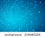 technological vector background ... | Shutterstock .eps vector #319085204
