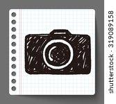 doodle camera | Shutterstock .eps vector #319089158
