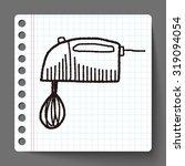doodle mixer   Shutterstock .eps vector #319094054