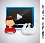 media player app design  vector ...