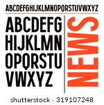 sanserif font in newspaper... | Shutterstock .eps vector #319107248