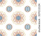 colorful floral pattern ...   Shutterstock .eps vector #319111124