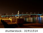 monument on the pier of the... | Shutterstock . vector #31911514