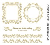 set of vintage frames and... | Shutterstock . vector #319116530