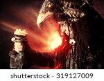 portrait of a male shaman in...   Shutterstock . vector #319127009