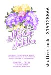 invitation card template with... | Shutterstock .eps vector #319128866