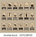 vector set of halloween labels... | Shutterstock .eps vector #319128920