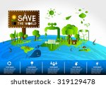ecology concept. save world... | Shutterstock .eps vector #319129478