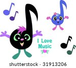 mix page of music notes vector | Shutterstock .eps vector #31913206