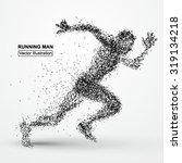 running man  particle divergent ... | Shutterstock .eps vector #319134218