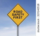 a modified sign indicating road ... | Shutterstock . vector #319140518