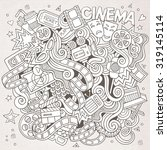 cartoon vector hand drawn... | Shutterstock .eps vector #319145114
