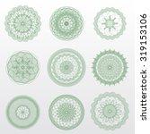 vector guilloche rosettes. use... | Shutterstock .eps vector #319153106