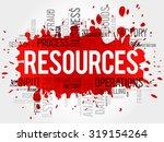 resources word cloud  business... | Shutterstock .eps vector #319154264