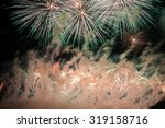 beautiful fireworks on the...   Shutterstock . vector #319158716